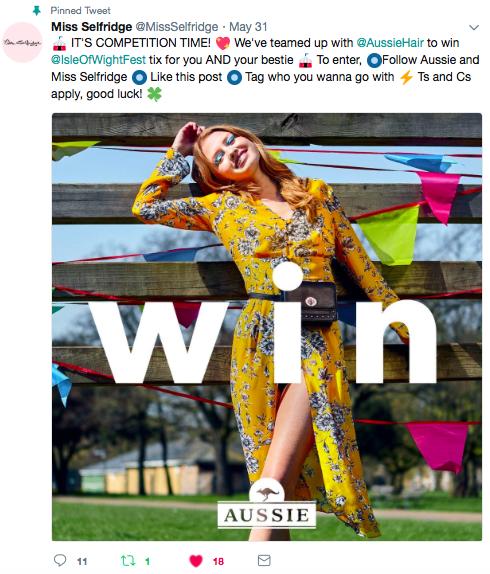 online digital competition marketing aussie miss selfridge