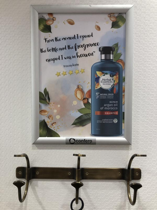 Herbal Essences Fitting Room Poster Oasis