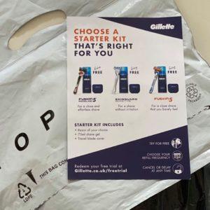 Gillette leaflet sampling