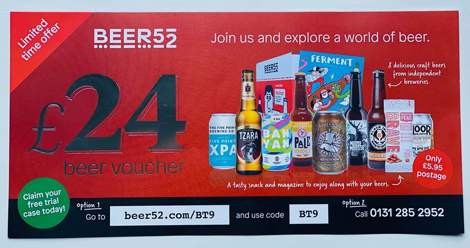 Beer 52 voucher
