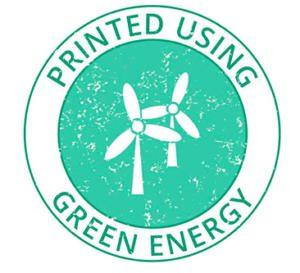 Printed using green energy